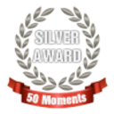 Small 50 moments silver