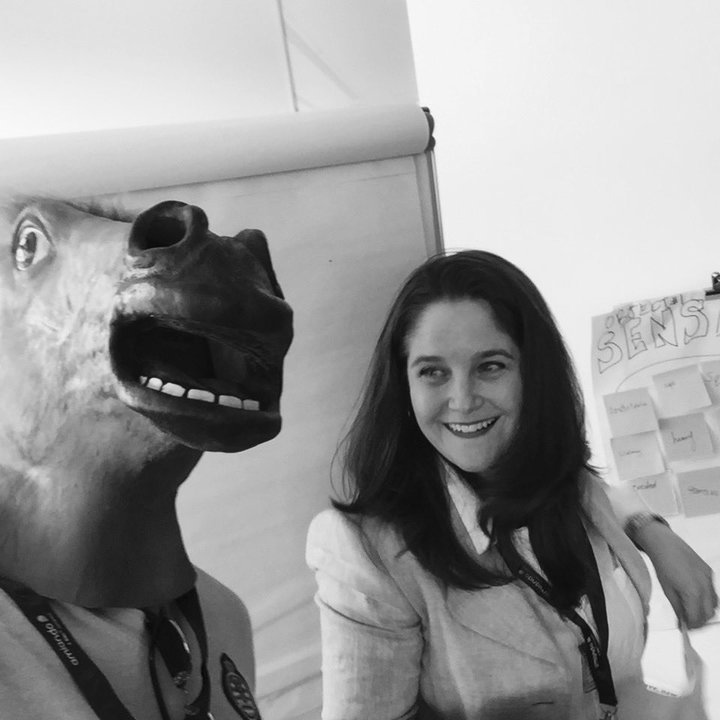 Normal horse head and me tiny