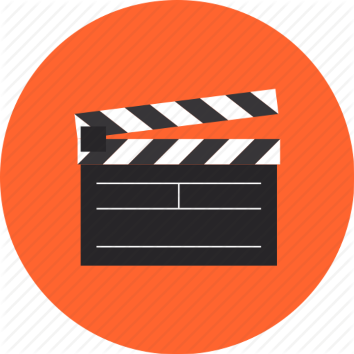 Normal clapboard clapper cinema movie film production clap video action play cinematography studio industry hollywood premiere flat design icon 512